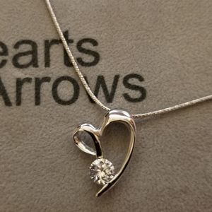 Heart necklace 925 silver chain